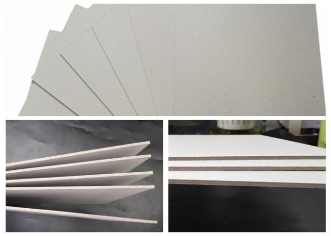 800GSM Recycled Pulp Chipboard Uncoated All Grey With FSC For Binder Cover
