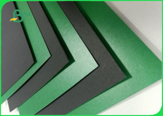1.2mm green / black colored moistureproof cardboard sheets for lever arch file