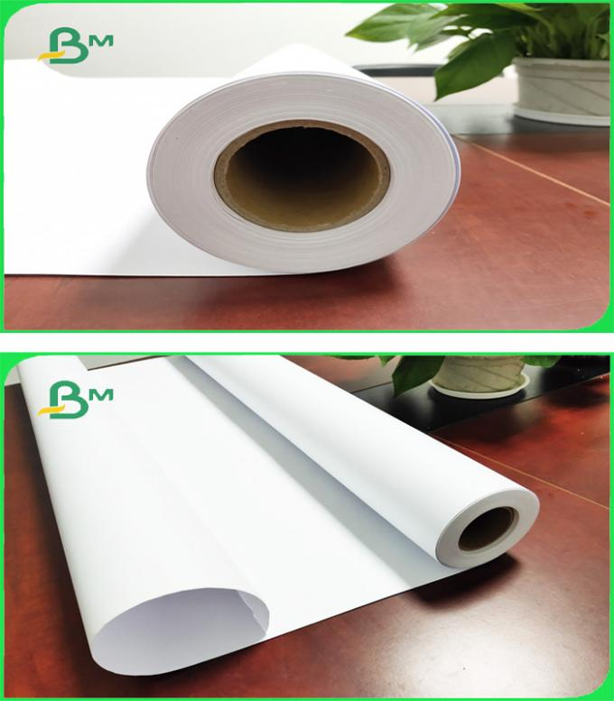 White Paper 20LB Bond Rolls With 2'' Paper Core For HP Length Custom - made