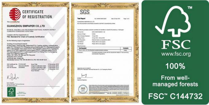 80gsm 90gsm Food Grade White Craft Paper for Making Flour / Surger Bags FDA FSC