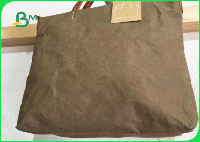 0.88mm Washable Paper White & Army-green & Brown Width 150cm For Backpack